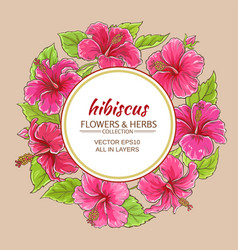 hibiscus frame vector image