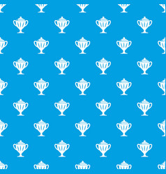ice hockey cup pattern seamless blue vector image