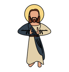 Jesus christ catholic spirituality vector