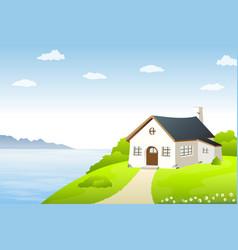 Lake house vector