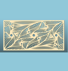 laser cut panels abstract geometric vector image