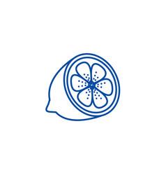 lemon line icon concept lemon flat symbol vector image