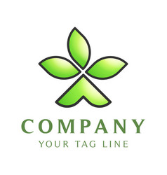 logo template in form tent tent with three vector image