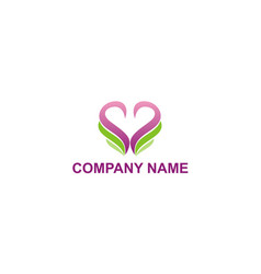love beauty abstract company logo vector image