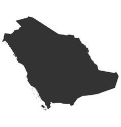 Map of saudi arabia in high resolution vector