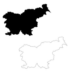 Map slovenia isolated black vector