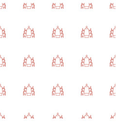 meeting icon pattern seamless white background vector image