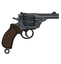 old short revolver vector image