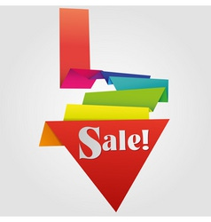 origami sale label vector image