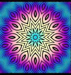 Ornamental mandala vector