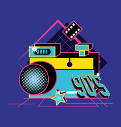 photographic camera of nineties retro vector image