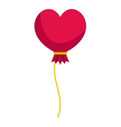 Pink heart balloon icon isolated vector