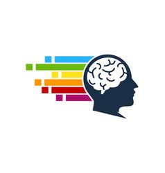 Pixel art brain logo icon design vector