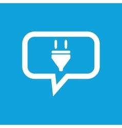 Plug message icon vector