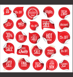Premium quality modern sticker and tag collection vector