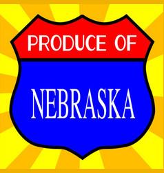 produce of nebraska vector image
