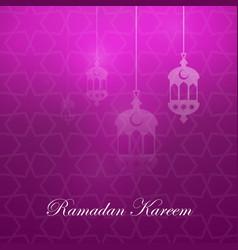 Ramadan kareem greeting card template vector