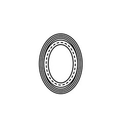 ring road icon element of racing for mobile vector image