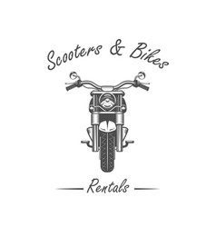 sale and rental of motorcycles vector image