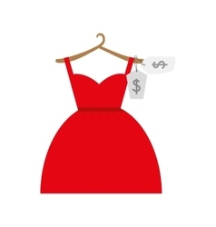 Shopping dress female icon graphic vector