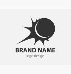 sport logo design element ball logotype company vector image