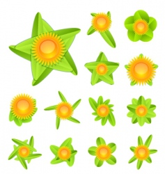 spring flower icons vector image