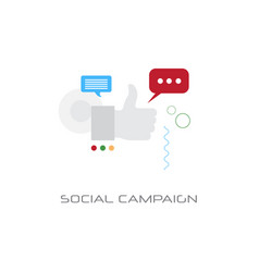 successful business strategy social campaign vector image