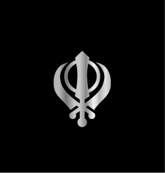 Symbol of Sikhism Religion vector