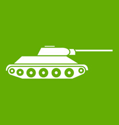 tank icon green vector image