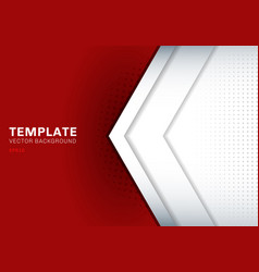 template white arrow overlapping with shadow on vector image