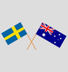 the australian and swedish flags vector image