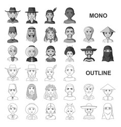 The human race monochrom icons in set collection vector