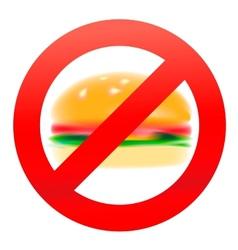 Unhealthy food hamburger vector image