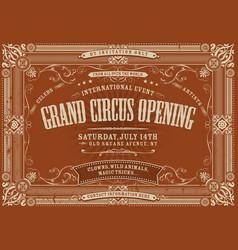 Vintage horizontal circus background vector