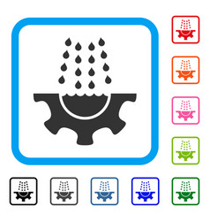 Water shower service gear framed icon vector