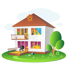 With burglary a dwelling vector