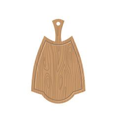 Wooden kitchen board kitchen utensils for cutting vector