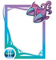 Zodiac frame series pisces vector