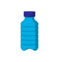 Blue plastic bottle cartoon icon vector