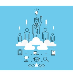 Business people teamwork human resources vector image