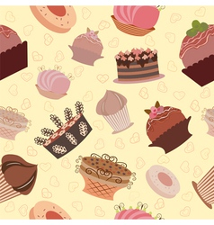 cake pattern vector image