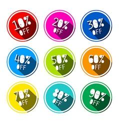 Discount Stickers - Labels Set vector image vector image