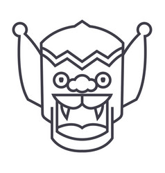 dragonchina line icon sign vector image