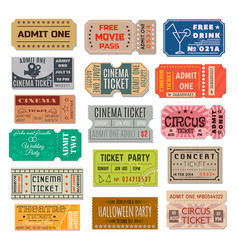 event ticket collection vector image vector image