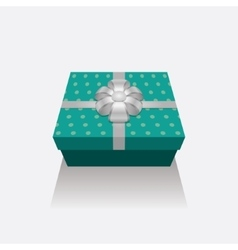 3D Gift Box Presents With Silver Ribbon Bow vector image vector image