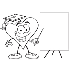 Cartoon Heart with Sign vector image