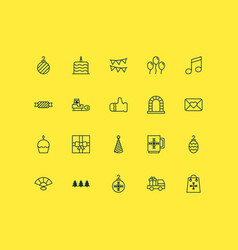new icons set collection of crotchets christmas vector image vector image
