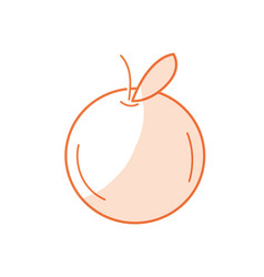 Silhouette delicious and healthy orange fruit vector