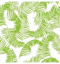 Tropical jungle palm leaves pattern vector image vector image