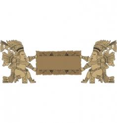 Vector mayan and inca tribal vector